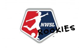 NWSL logo with rookies on it