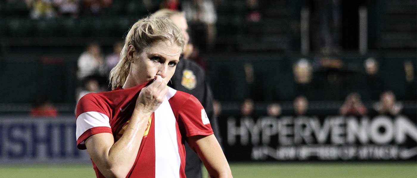 McCall Zerboni with the WNY Flash