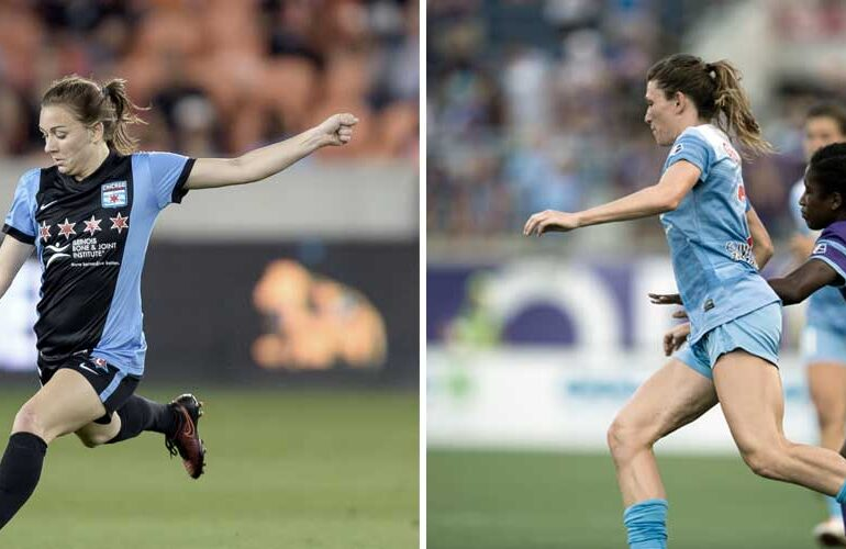 Courtney Raetzman (Wilf Thorne) and Arin Gilliland (Roy Miller) for Chicago Red Stars