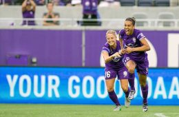 Kristen Edmonds celebrating with the Orlando Pride by Mark Thor