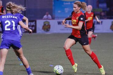 Lynn Williams of the WNY Flash by NWSL Soccer