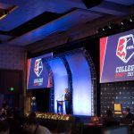 NWSL Commissioner Jeff Plush at the 2017 NWSL College Draft. (Manette Gonzales/OGM)