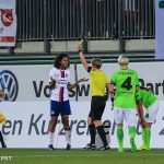 """How do you say, """"Who me?"""" in French? Wendie Renard (OL) receives a yellow card."""