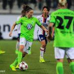 Wolfsburg's Élise Bussaglia.
