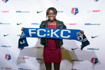 Toni Payne is drafted by FC Kansas City. (Manette Gonzales)