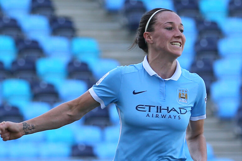 Lucy Bronze of Man City by The FA