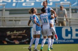 Pride goal celebration. (Shane Lardinois)
