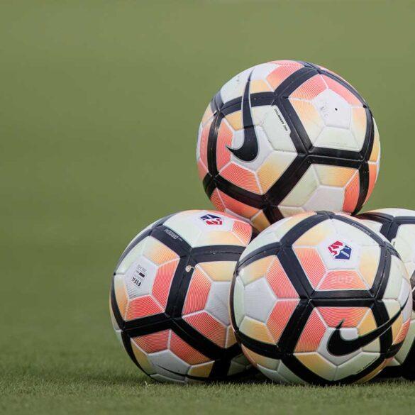 NWSL soccer balls. (Shane Lardinois)