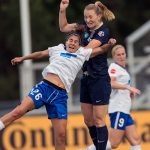 Angela Salem (26) and Sam Mewis. (Shane Lardinois)