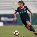 Debinha on the attack for the North Carolina Courage. (Shane Lardinois)