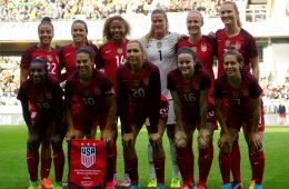 The United States starting lineup against Sweden. (Rainer Fussganger)