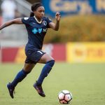 Taylor Smith on the attach for the North Carolina Courage. (Shane Lardinois)