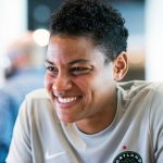 Adrianna Franch during 2017 NWSL Media Day. (Monica Simoes)