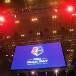The 2018 NWSL Collge Draft, under the lights (Monica Simoes).