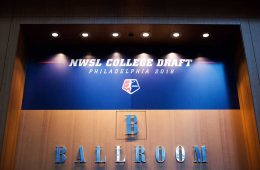 Entrance to the 2018 NWSL College Draft (Monica Simoes).