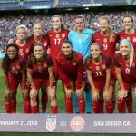 Starting lineup for the U.S. against Denmark on January 21, 2018. (Manette Gonzales)