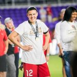 Christine Sinclair after the 2017 NWSL Championship. (Monica Simoes)