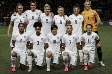 England lineup versus USA in 2015 friendly via joshjdss (wiki commons).