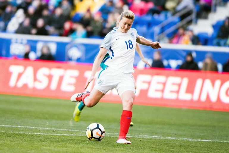 England's Ellen White during the 2018 SheBelieves Cup. (Monica Simoes)