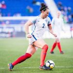 Defender Lucy Bronze during the 2018 SheBelieves Cup. (Monica Simoes)