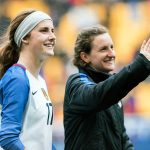 Tierna Davidson and Andi Sullivan at the 2018 SheBelieves Cup. (Monica Simoes)
