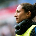 USA's Christen Press during warm-ups at the 2018 SheBelieves Cup. (Monica Simoes)