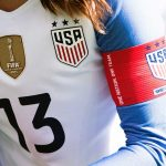 Alex Morgan wearing the captain's band at the 2018 SheBelieves Cup. (Monica Simoes)