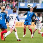 France's Gaëtane Thiney controls the ball during the 2018 SheBelieves Cup. (Monica Simoes)