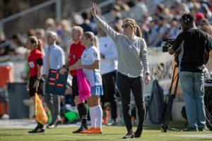 Sky Blue FC head coach Denise Reddy. (Shane Lardinois)