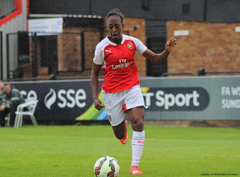 Arsenal's Danielle Carter. (joshjdss, wikicommons)