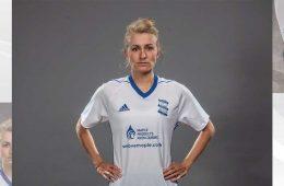 Emma Follis in Birmingham City uniform (Twitter, Follis/Birmingham City).
