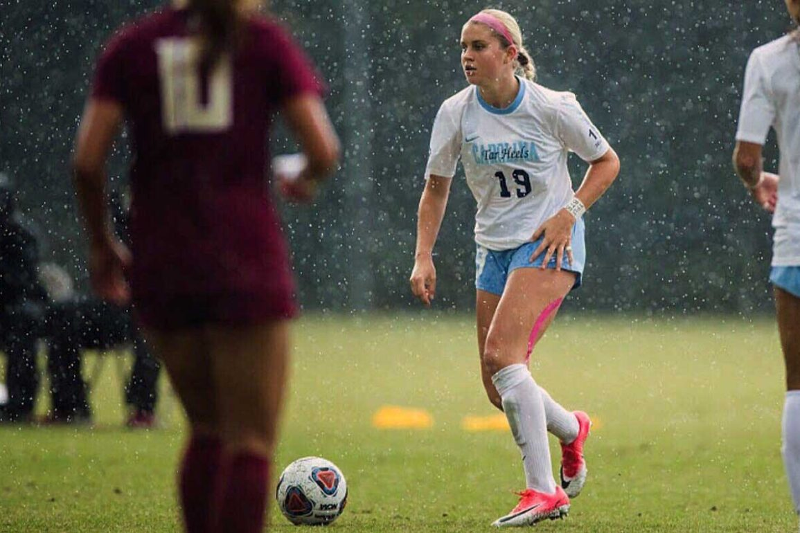 Alessia Russo playing for the University of North Carolina. (Alessa Russo)