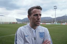 Phil Neville, head coach of England. (YouTube, England FA)