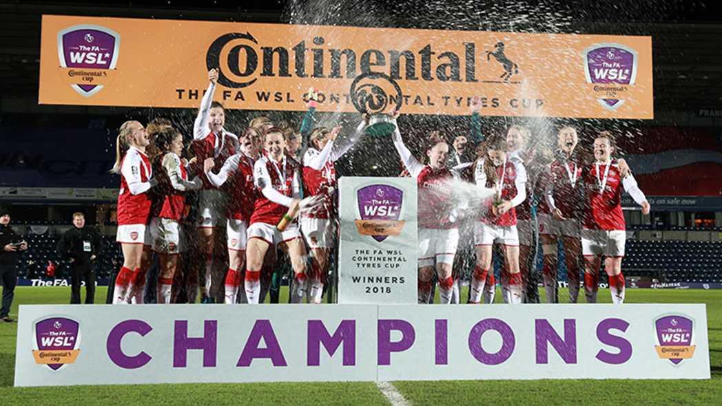 Arsenal celebrates 2018 Continental Cup win. (The FA)