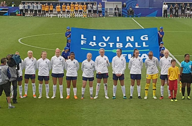 Lineup for England's U-20 squad against Mexico at the U-20 World Cup. (Richard Laverty)