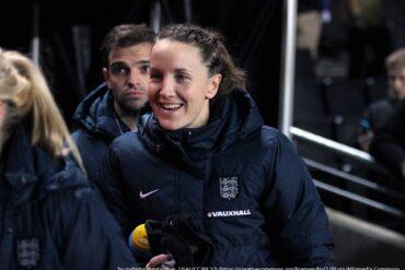 Casey Stoney for England (joshjdss, wikicommons)