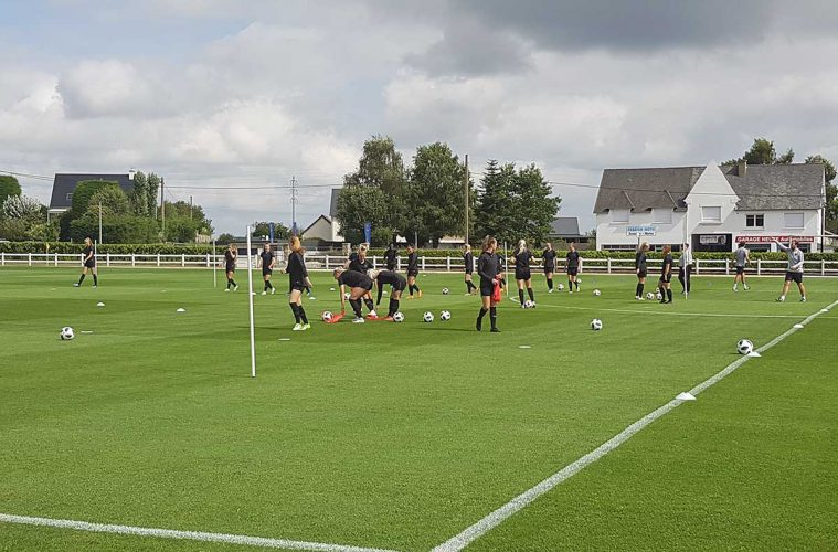 England U-20 at training in preparation for final group-stage match at the World Cup. (Richard Laverty)