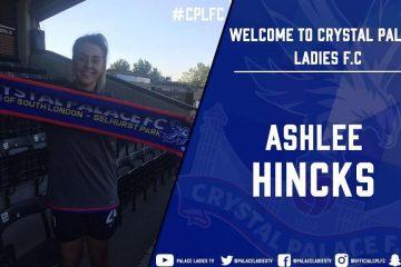 Ashlee Hincks for Crystal Palace via Instagram.