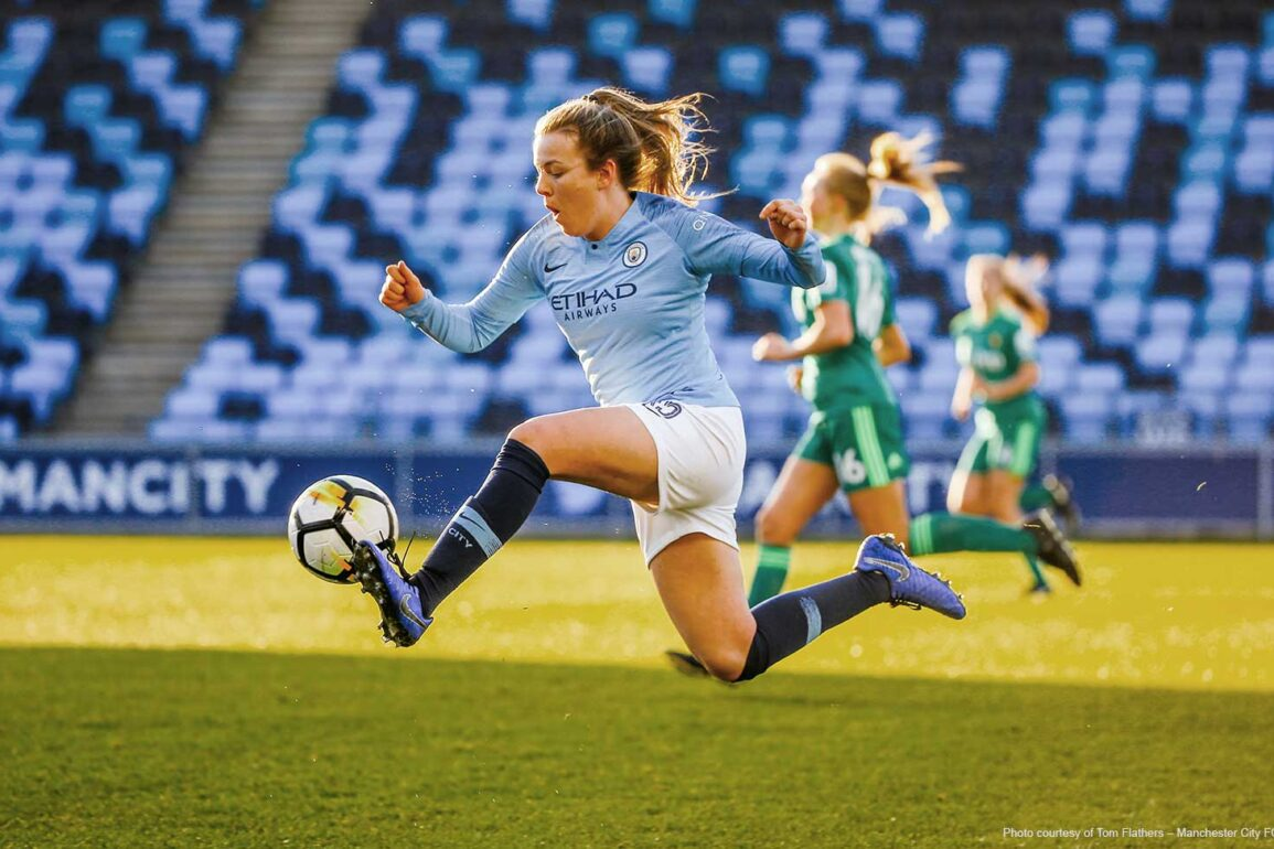 Lauren Hemp for Man City (Tom Flathers – Manchester City FC).
