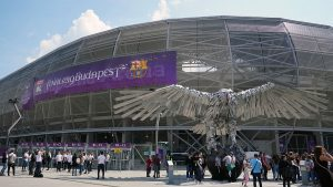 Groupama Arena in Budapest, site of the 2019 UEFA Women's Champions League final. (Daniela Porcelli / OGM)