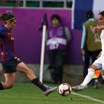 Action from the 2019 UEFA Women's Champions League final. (Daniela Porcelli / OGM)