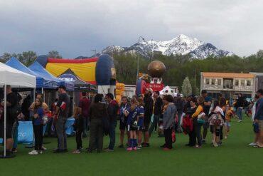 Carnival Real before the Utah Royals 2019 home opener (Camille Hunter).