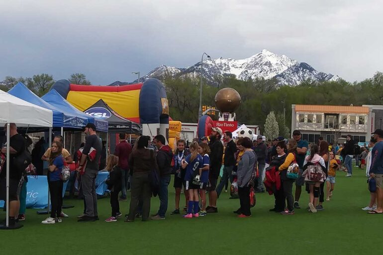 Carnival Real before the Utah Royals 2019 home opener (Camille Hunter).