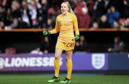 Ellie Roebuck in goal for England (Getty Images).