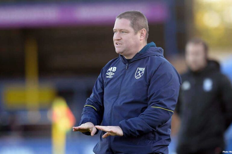 West Ham United manager Matt Beard. (West Ham United)