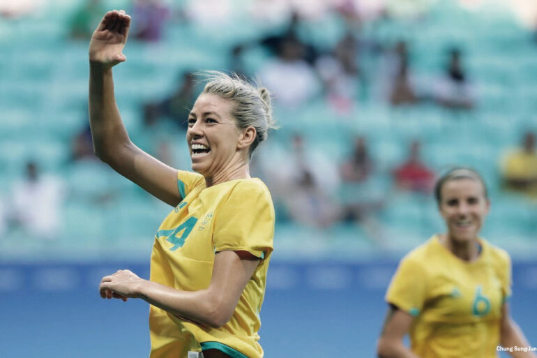 Alanna Kennedy for Australia. (Chung Sung-Jun, FIFA/Getty Images)