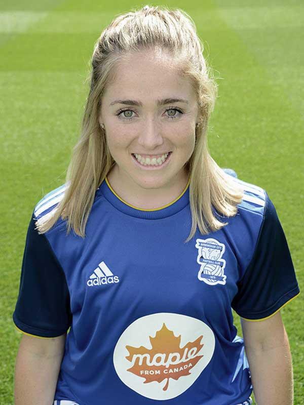 Brianna Visalli headshot for Birmingham City. (Birmingham City)