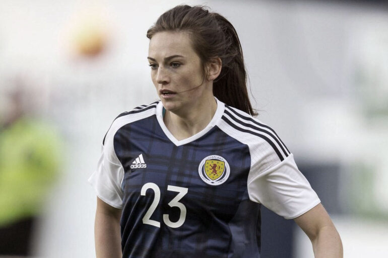 Chloe Arthur suiting up for Scotland. (Getty Images)