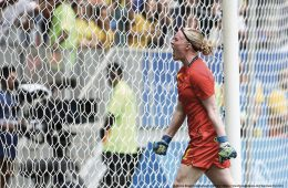 Hedvig Lindahl of Sweden's National Team. (Agencia Brasil Fotografias)