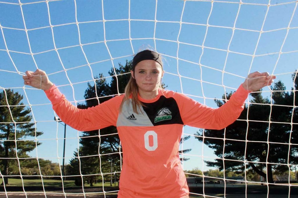Columbia State Community College goalkeeper Jasmine Runk. (Buffy Holt)